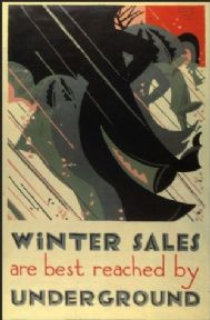 London Underground poster - Winter Sales
